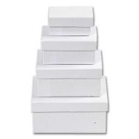 Boxes, white Cardboard, rectangular