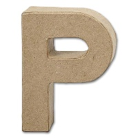 Letter Papier Mâché - P
