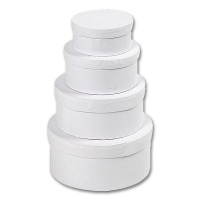 Boxes, white Cardboard, round