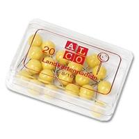 Alco Landkartennadeln 5 mm gelb