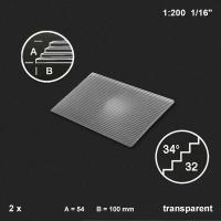 Treppenplatte 34°, transparent, 1:200