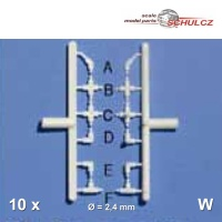 20 Rohrverbinder-Set, ø = 2,4 mm, weiß