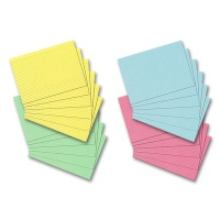 Index Cards, DIN A6, ruled, assorted colors