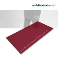 Präzisions-Acrylglas transparent dunkelrot