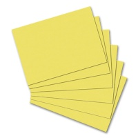 Index Cards, DIN A6, blanko, yellow