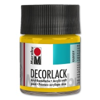 Decorlack Acrylic glossy - No. 021 medium yellow