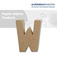 Buchstabe Papier-Mâché - W