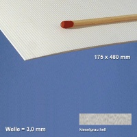 Corrugated Paperboard, pebble grey 3 mm Flute