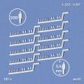 100 Silhouettenfiguren, weiß, stehend 1:333