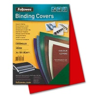 Fellowes Chromolux Cover Sheets, red