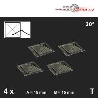4 Oberlichter Pyramide 30°