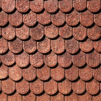 Dachplatte Biberschwanz 39 x 29 cm