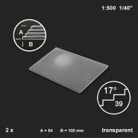 Treppenplatte 17°, transparent, 1:500