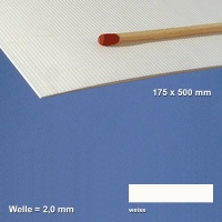 Corrugated Paperboard, white 2 mm Flute