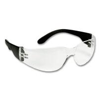 Schutzbrille transparent, schwarze Bügel