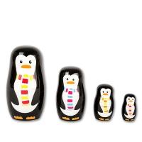 Matrjoschka Pinguin-Familie